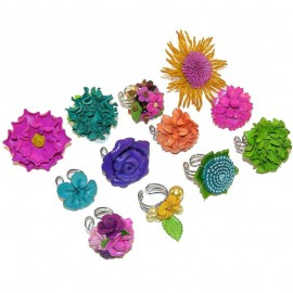 12 Pcs Large Ring Assorted