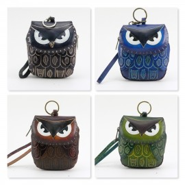 12 pcs e360 assorted color owl wristlets