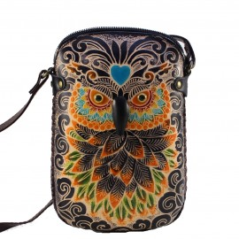 y25 new rectangle black owl pouch